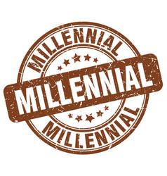 Millennial brown grunge stamp vector