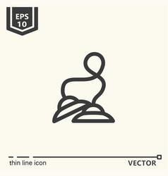 one icon - tibetan bells vector image