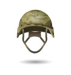 Paintball military modern camouflage helmet Army vector image
