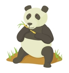 Panda icon cartoon style vector