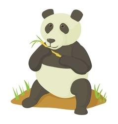 Panda icon cartoon style vector image vector image
