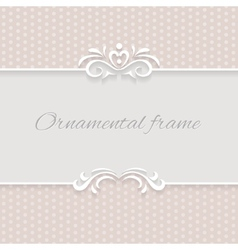 Paper background frame with ornamental vector image