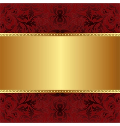 red gold background vector image