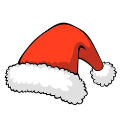 red santas hat vector image vector image