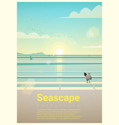seascape background with sea view in the morning vector image vector image