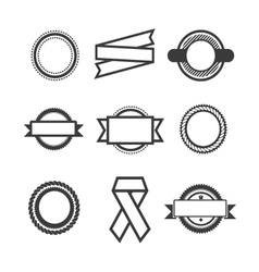Set of logos vector image vector image