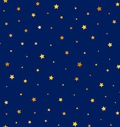 Stars golden seamless pattern vector