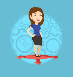 Woman choosing career way vector