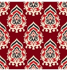 Seamless damask pattern for fabric vector