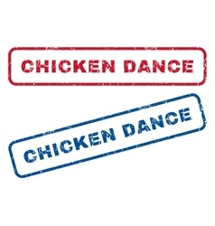 Chicken dance rubber stamps vector