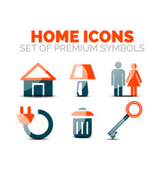 Set of home equipment and elements icons vector