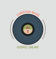 Studio christian music vector