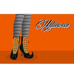 Happy halloween spooky witch legs eps10 file vector