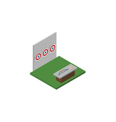 Isolated archery isometric aiming game vector