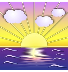 Abstract sea sunrise scene vector