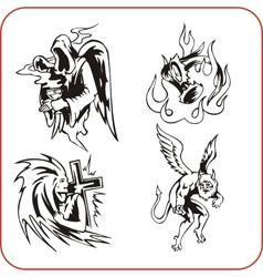 Demons - set vector image