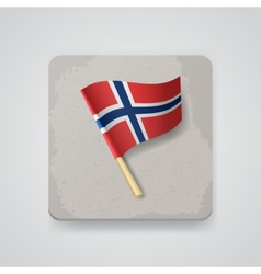 Norway flag icon vector