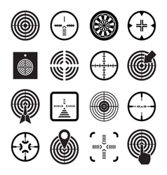Set icons of target and sights vector