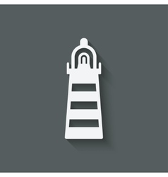 Beacon navigate symbol vector