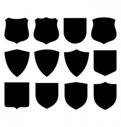 shields labels vector image