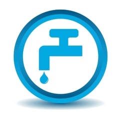 Water tap icon blue 3d vector