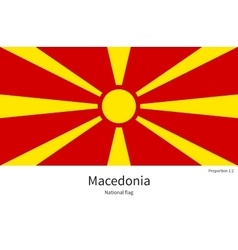 National flag of macedonia with correct vector
