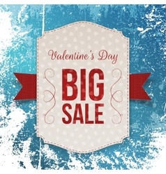 Holiday poster with valentines day big sale text vector