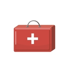 Medicine chest icon cartoon style vector