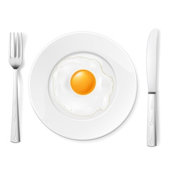 Scrambled egg vector image