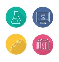 Laboratory equipment icons vector image