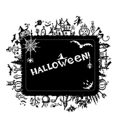 Halloween frame for your design vector image