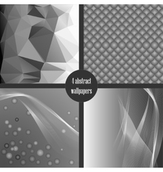 Set of gray abstact backgrounds vector