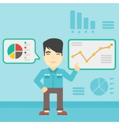 Man making business presentation vector