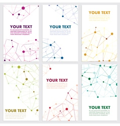 Abstract color network connection vector