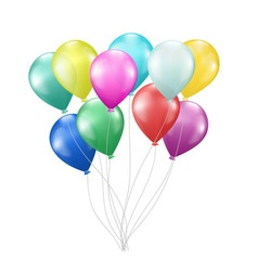balloons on white vector image