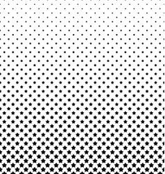 Black and white pentagram star pattern background vector
