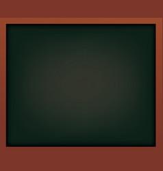 black school chalkboard with frame vector image vector image