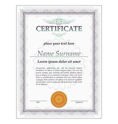 Certificate design template vector image
