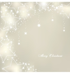 Christmas stars on silver background vector