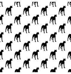 Dog pattern seamless vector image vector image