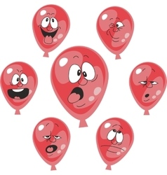 Emotion red balloon set 008 vector image