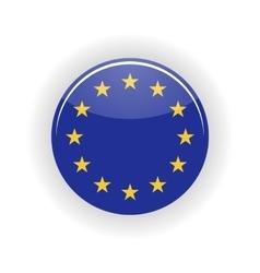 European Union icon circle vector image