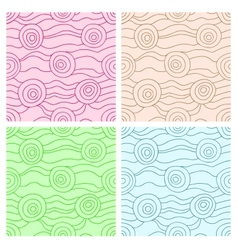 Fancy seamless set vector image