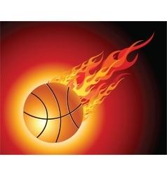 Fiery basketball ball vector