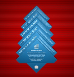 fir tree infographics Modern design template vector image