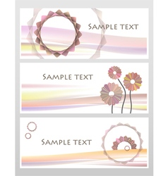 Geometric pink and red pastel flowers business ca vector