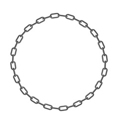Iron chain circle frame of rings of chain vector