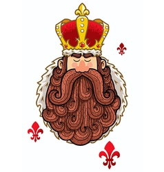 King Portrait vector image vector image