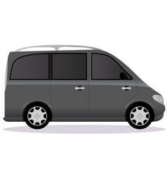 Minivan car body type vector