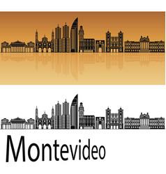 montevideo skyline vector image vector image